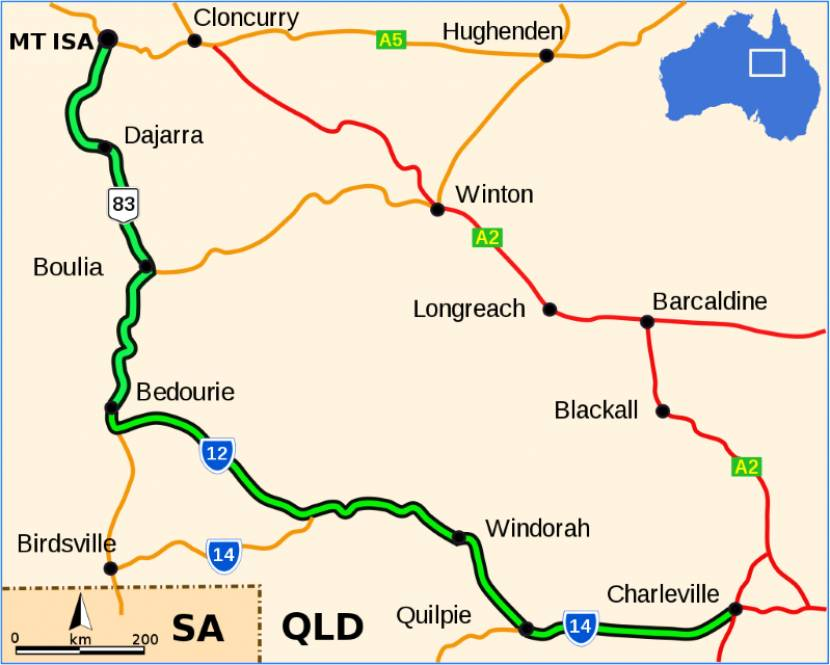 83 / Diamantina Developmental Road / Bedourie To Mount Isa