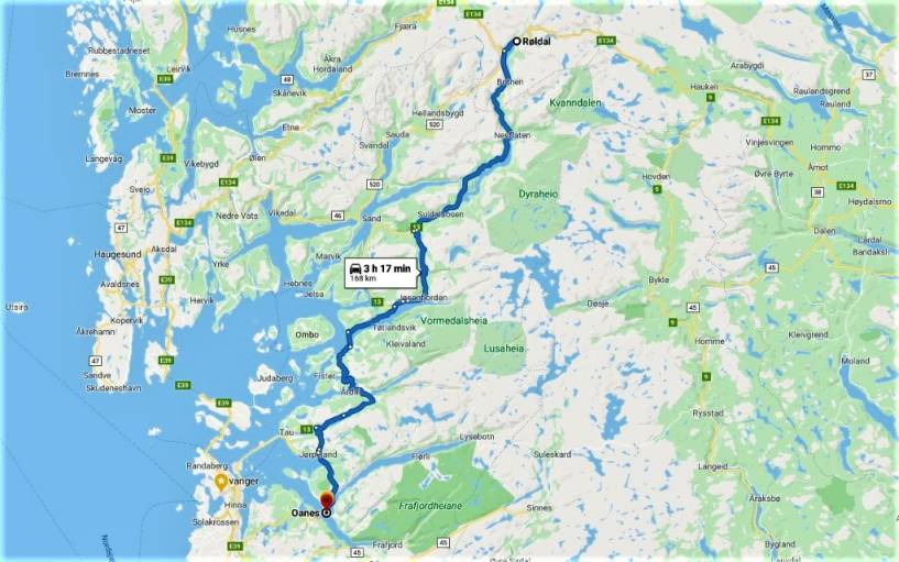13 / Ryfylke Route / Oanes To Roldal